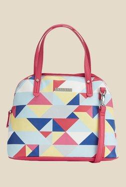 Caprese Paula Coral Red Printed Shoulder Bag