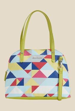 Caprese Paula Lime Green Printed Shoulder Bag