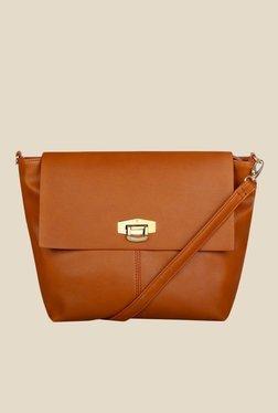 Caprese Bonnie Saddle Brown Solid Sling Bag