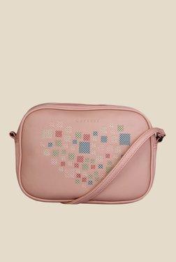 Caprese Love Soft Pink Printed Sling Bag