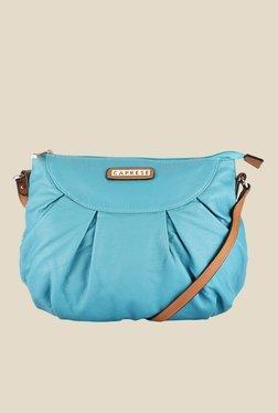 Caprese Lini Mint Blue Solid Sling Bag