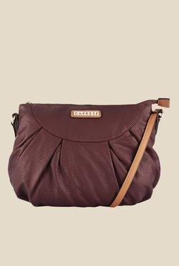 Caprese Lini Dark Brown Solid Sling Bag