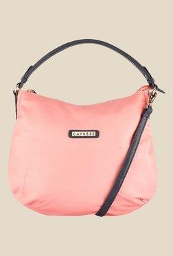 Caprese Lini Peach Solid Hobo Handbag