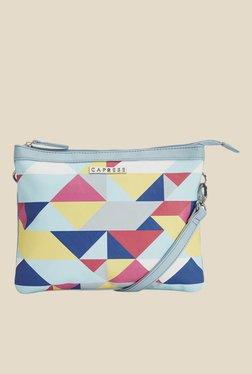 Caprese Paula Pale Blue Printed Sling Bag