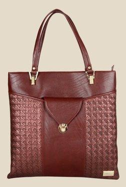 Horra Quilt Dark Brown Textured Tote Shoulder Bag