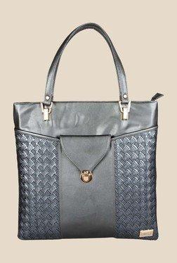 Horra Quilt Grey Textured Tote Shoulder Bag