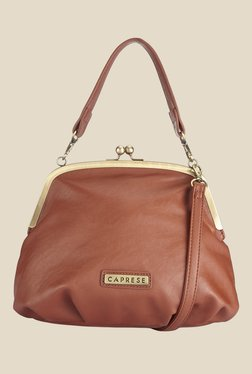 Caprese Helena Saddle Brown Solid Handbag