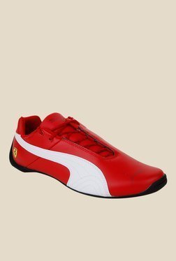 Puma Ferrari Future Cat SF Red & White Sneakers