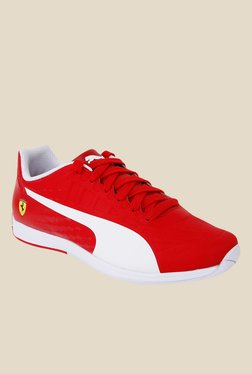 Puma Ferrari Evospeed SL SF Red & White Sneakers