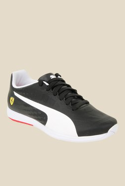 Puma Ferrari Evospeed SL SF Black & White Sneakers
