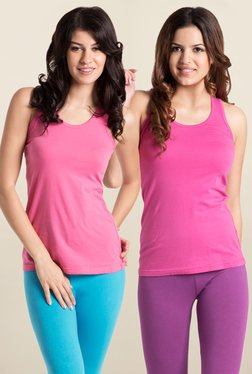 PrettySecrets Pink Tank Top (Pack Of 2)