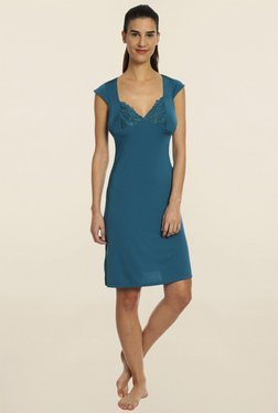 Soie Teal Lace Night Dress