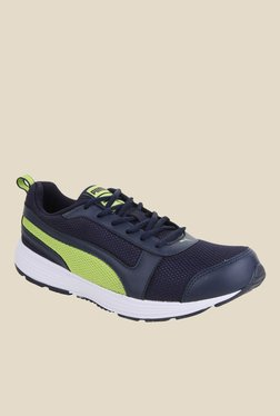Puma Alex IDP Navy & Green Running Shoes