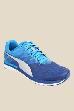 Puma Speed 300 Ignite Blue & Silver Running Shoes
