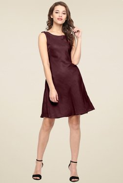 Ahalyaa Dark Brown Sleeveless Dress