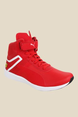 Puma Ferrari SF F116 Red & White Sneakers
