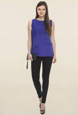 Soie Blue Lace Top