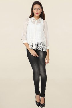 Soie White Lace Shirt - Mp000000001110746