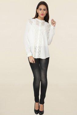 Soie White Lace Shirt