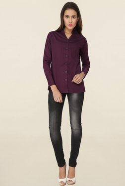 Soie Purple Solid Shirt
