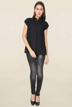 Soie Black Lace Shirt - Mp000000001110509