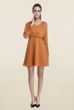 Vero Moda Brown V Neck Dress