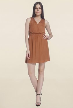 Vero Moda Brown Sleeveless Dress