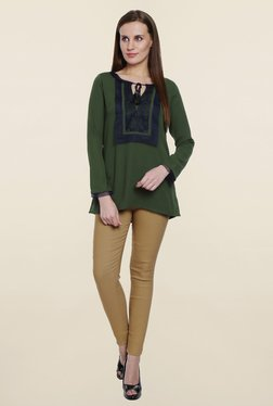 Soie Green Lace Top