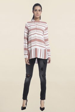 Vero Moda Off White Striped Shirt - Mp000000001111700