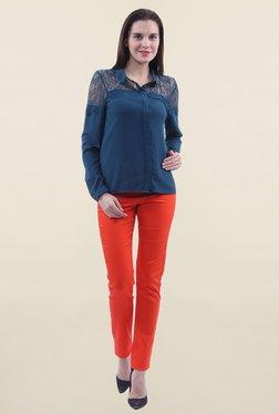 Vero Moda Blue Lace Shirt