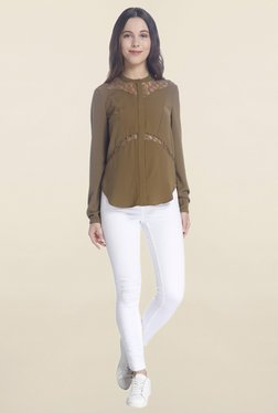 Vero Moda Brown Lace Shirt
