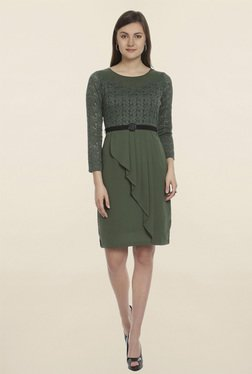 Soie Green Lace Dress