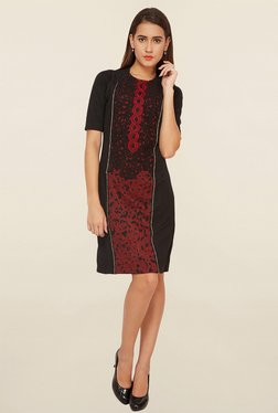 Soie Maroon Lace Dress - Mp000000001112721