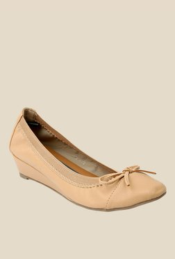 Solovoga Beige Wedge Heeled Pumps