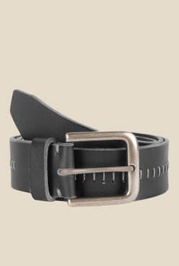 Kara Black Textured Leather Belt - Mp000000001112583