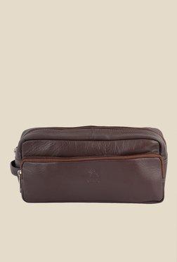 Kara Brown Solid Leather Toiletry Kit