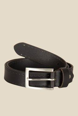 Kara Black Solid Leather Belt - Mp000000001112625