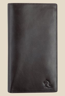 Kara Brown Solid Bi-Fold Leather Wallet