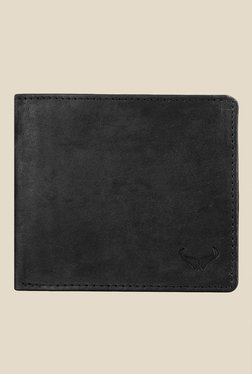 Bern Black Solid Bi-Fold Leather Wallet