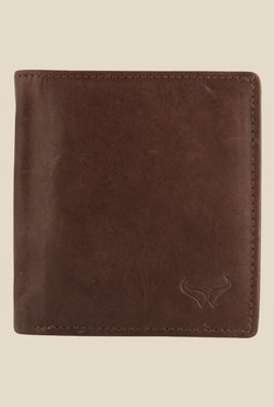 Bern Brown Solid Bi-Fold Leather Wallet