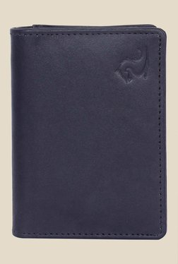 Kara Black Solid Bi-Fold Leather Wallet - Mp000000001113260