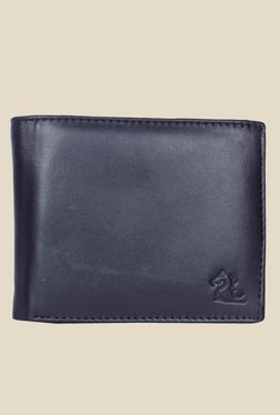 Kara Black Solid Bi-Fold Leather Wallet - Mp000000001113327