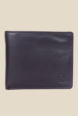 Kara Dark Brown Solid Bi-Fold Leather Wallet - Mp000000001113332