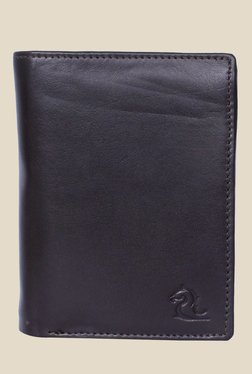 Kara Dark Brown Solid Bi-Fold Leather Wallet - Mp000000001113352
