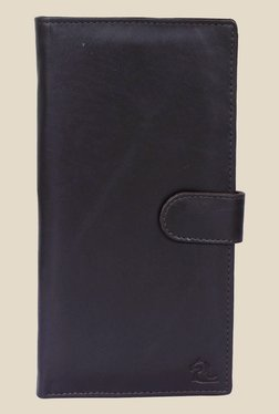 Kara Dark Brown Solid Bi-Fold Leather Wallet - Mp000000001113369