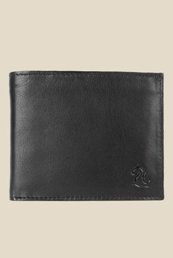 Kara Black Solid Bi-Fold Leather Wallet - Mp000000001113378