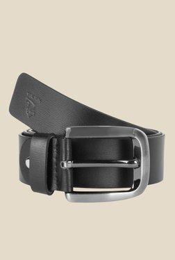 Kara Black Solid Leather Belt - Mp000000001113509