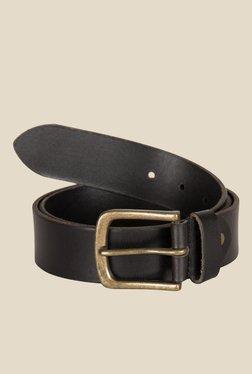 Kara Black Solid Leather Belt