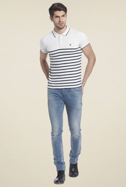 Jack & Jones White Polo T-shirt