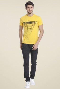 Jack & Jones Yellow Crew Neck T-shirt